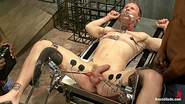 Jack Hammer and Scott Alexander torment and fuck a blonde dude