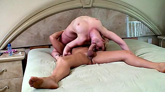 Tattooed pornstar licking huge balls in the shower closeup shoot