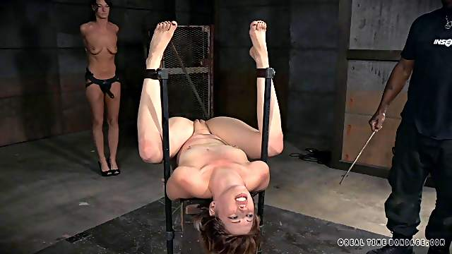 Torturing the perfect chick in BDSM ways while she moans in pain
