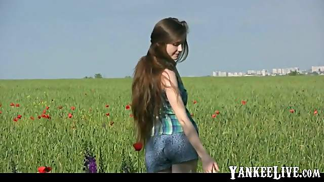 Beauty Emilia with long hair shows her sexy body