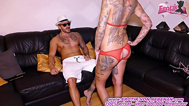 German sex teacher teach skinny tattoo milf