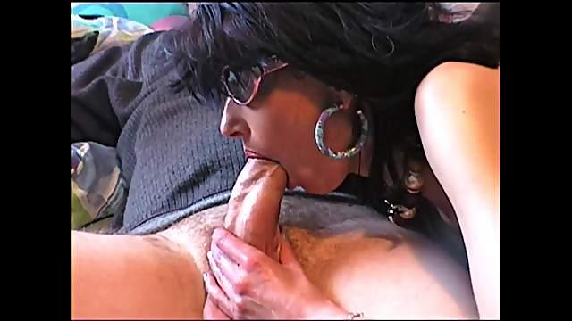 Very hot milf slow blowjob handjob and cum