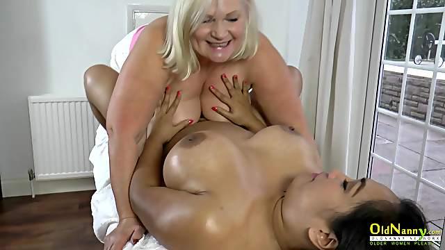 OldNannY Lacey Starr Big Tits Lesbian Massage