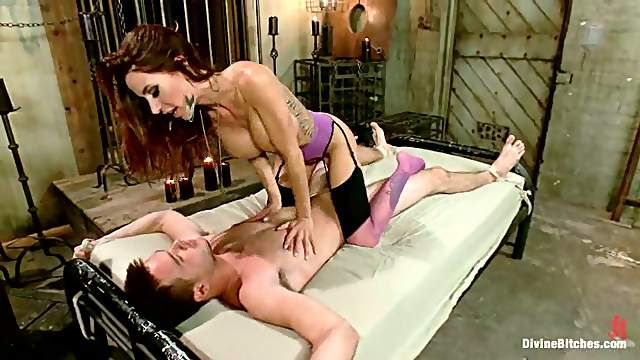 Gia Dimarco Ties Guy in Bondage Session for Pegging and Face Sitting