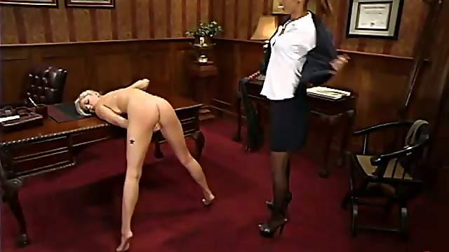 Sexy boss is torturing her kinky secretary