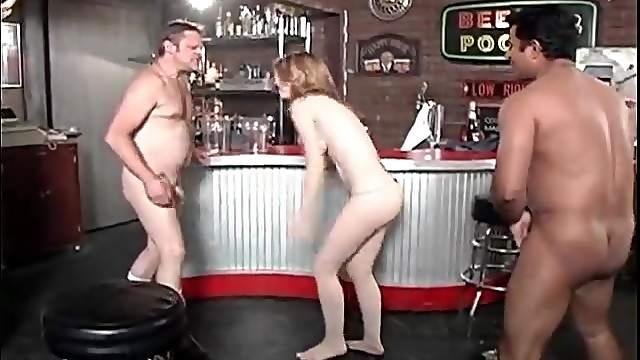 Girl kicks dudes in the balls for fun