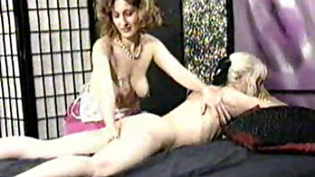Milf comes in and squirts milk on blonde