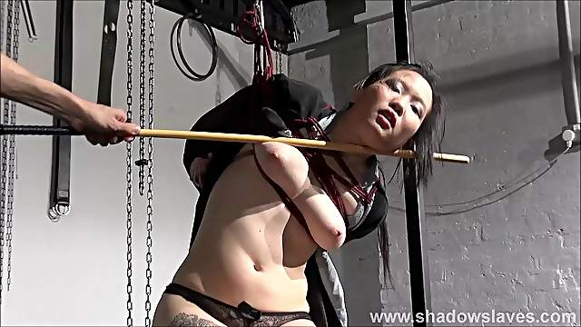 Japanese spanking and bondage