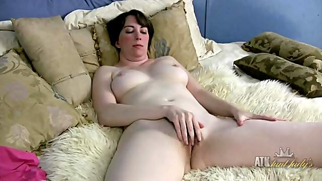 Milky white milf tits are perfectly round