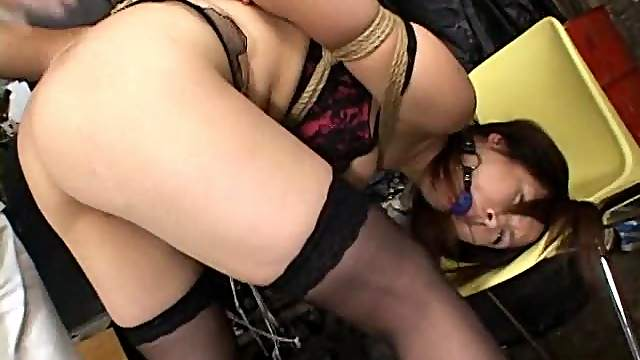The Gagged and Drooling Girl