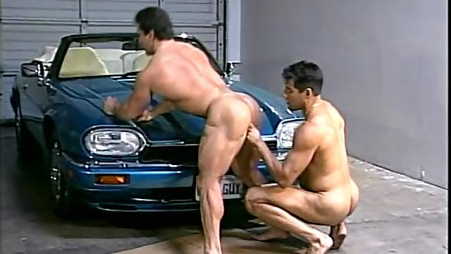 Mouthwatering Gay Fellows Have Anal Sex Against A Car
