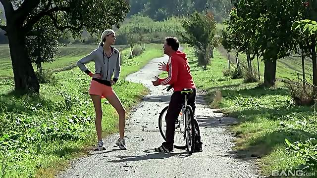Seductive teen in a sexy short submits to a tempting sporty hardcore screw
