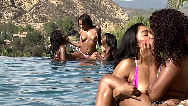 Pool Orgy Lesbians - Girls Out West - Lesbian pool orgy - Lesbian sex video on Tube Wolf