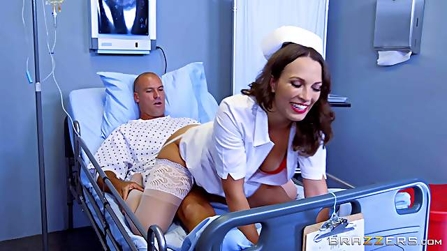 This gorgeous nurse cures the patients in a completely new way