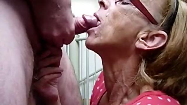 Grandma gets facial