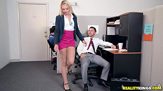 Hot Zoe Clark gets her wet cunt plowed by a long stiff dick