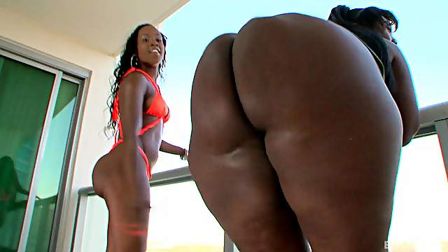 Big butt Toni Sweets adores jumping on her friend's hard and black cock