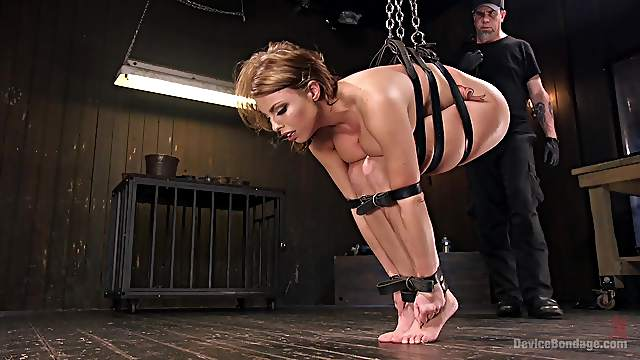 Hot girl Britney Amber enjoys BDSM and sex games with a dude
