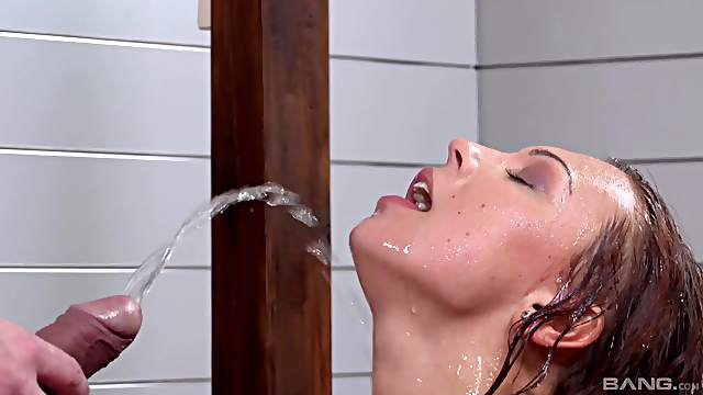For Morgan the best way to finish her day is hard sex and piss drinking