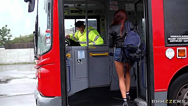 Wild threesome fucking in a bus Madison Ivy and Jasmine Jae