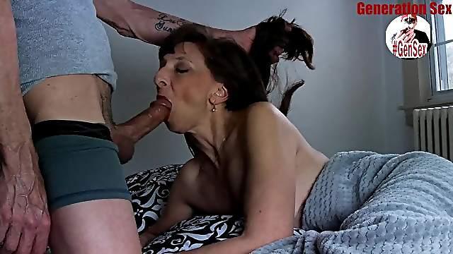 Sexy Italian mature big cock blowjob