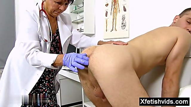 Granny doctor do prostate massage