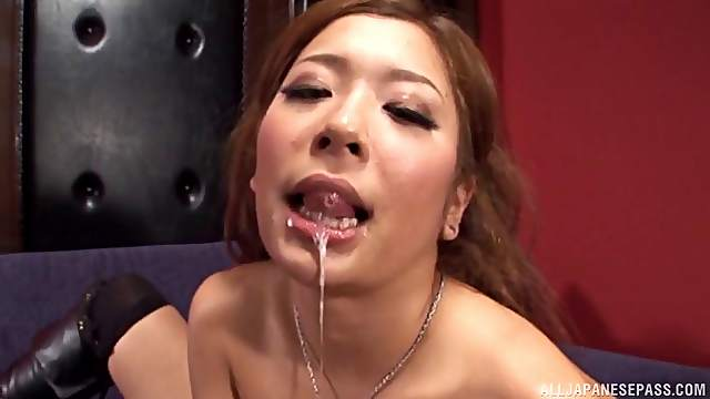 Hot ass and tits cutie takes a dick in her mouth and wet pussy