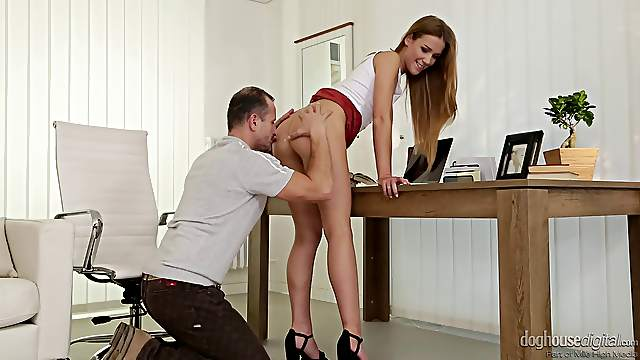 Great office shag with alluring babe Alexis Crystal