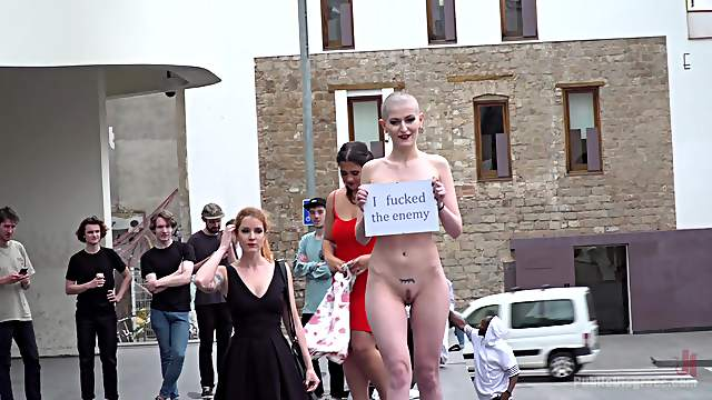 Public humiliation and torture for sluts Irina Vega and Nerea Falco