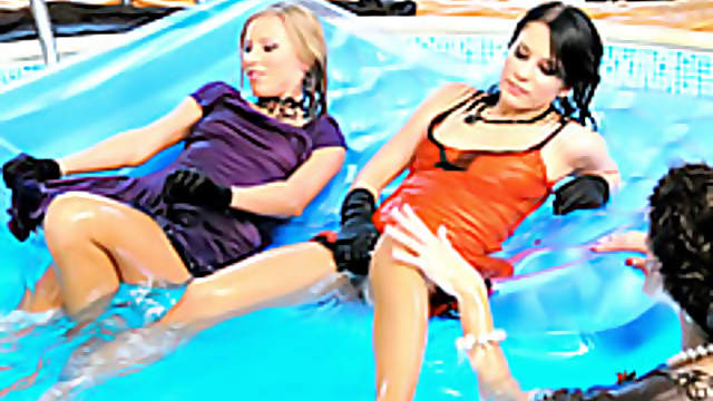 Babes in the pool