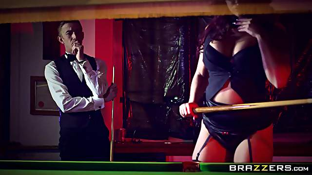 Elegant MILF goes full mode on cock during snooker game