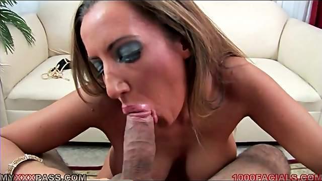 Milf Richelle Ryan gobbles cock POV