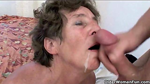 Cumshots flying in a mature compilation