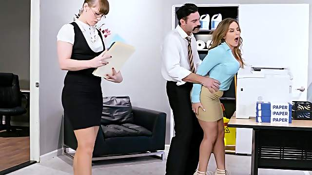 Premium office sex experience for new secretary in heats