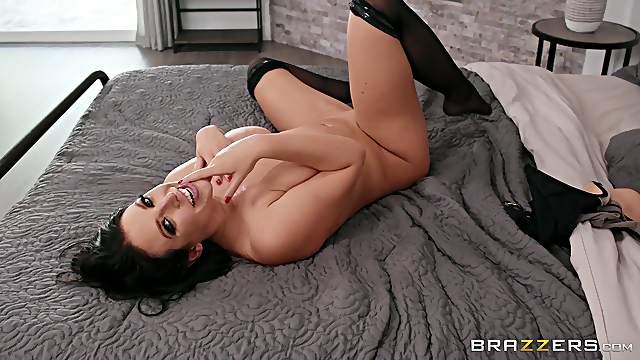 Crazy bedroom sexual fun on the young son's huge dong