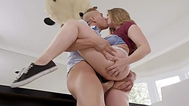 Perfect milf shakes tits while riding cock like a slut