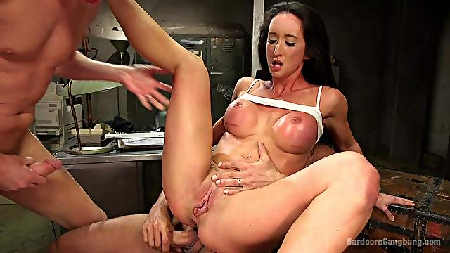Bitches gets gang banged by the inmates and made to swallow